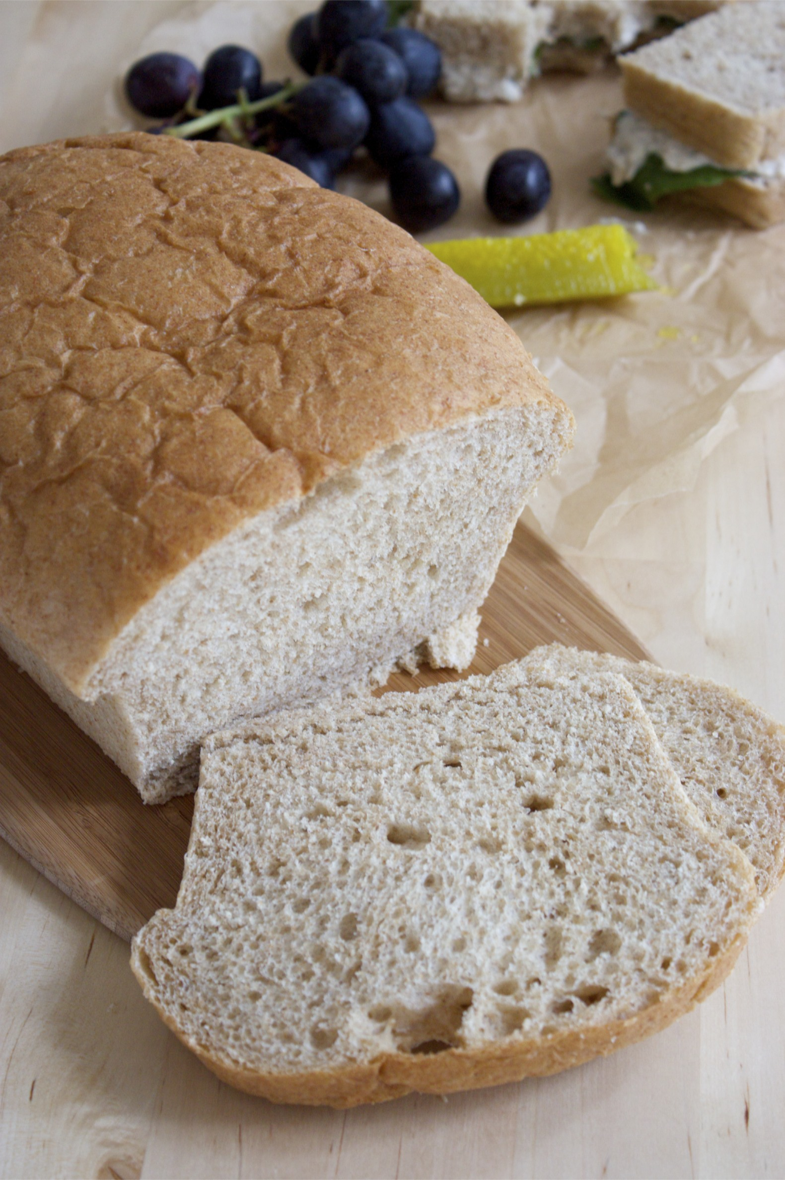 soft honey-wheat sandwich bread