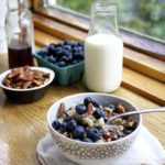 Instant Blueberry Banana Oatmeal with Pecans