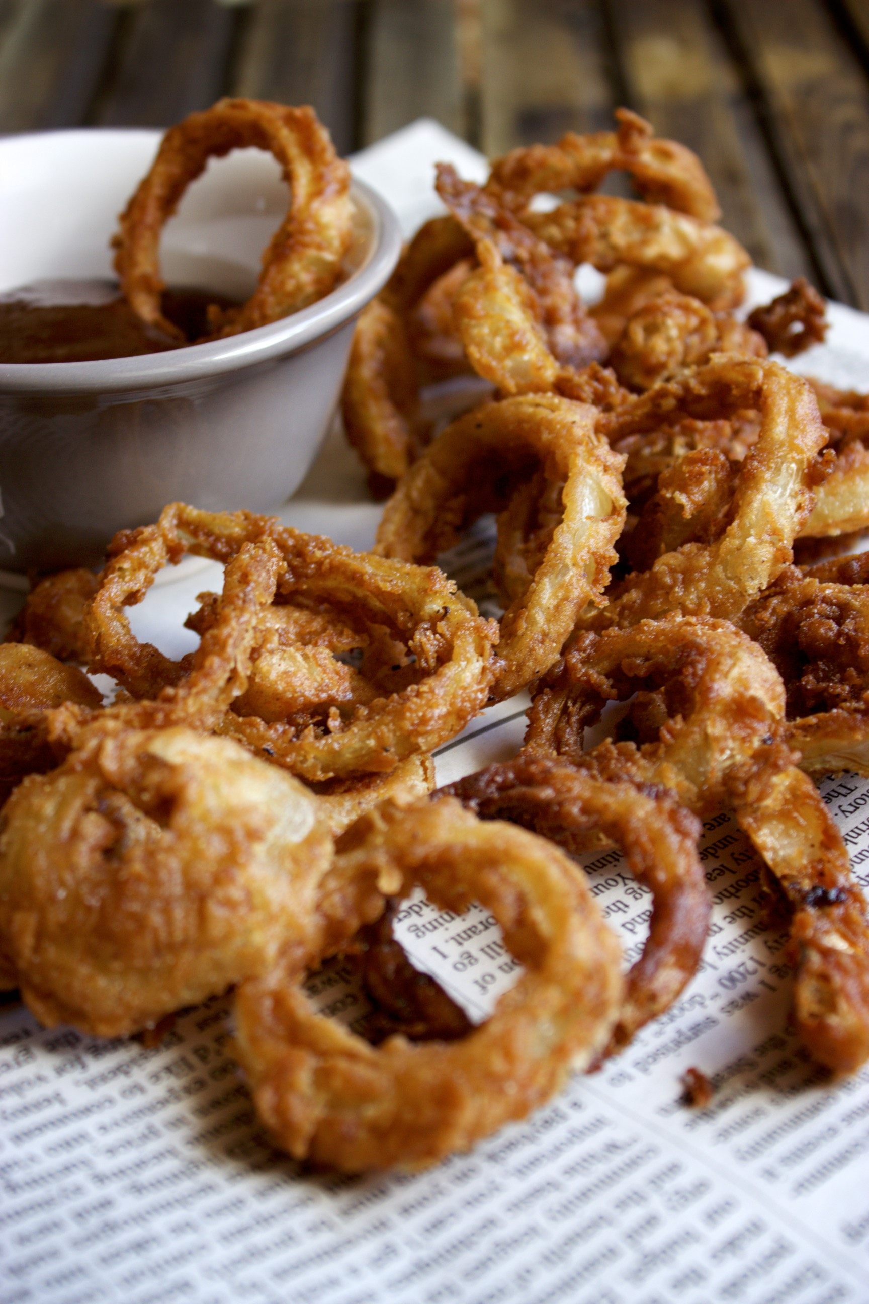 Crispy Barbecue Onion Rings