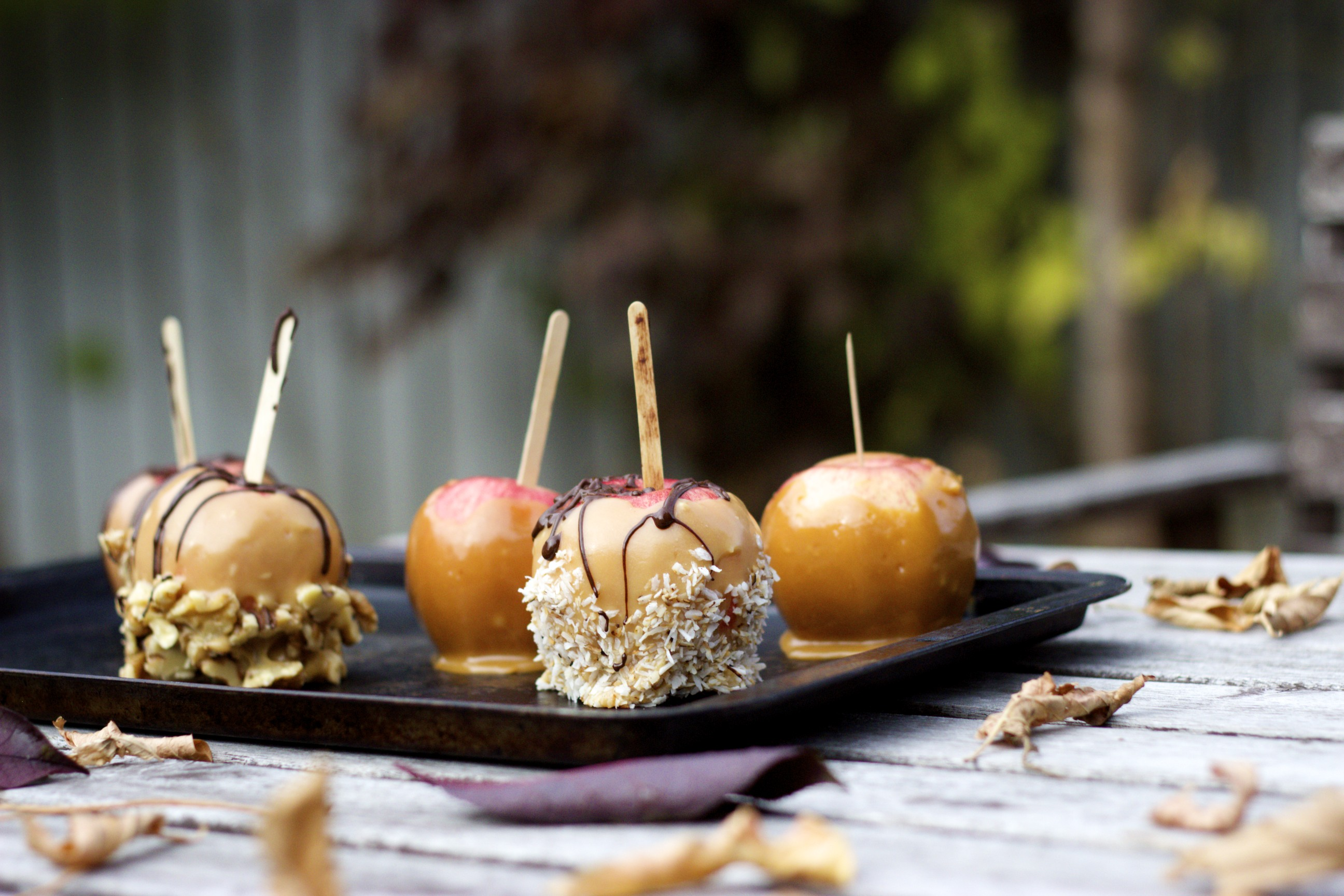 Healthy Caramel Apples - they taste just like the real deal, and no one will ever guess they're healthy!