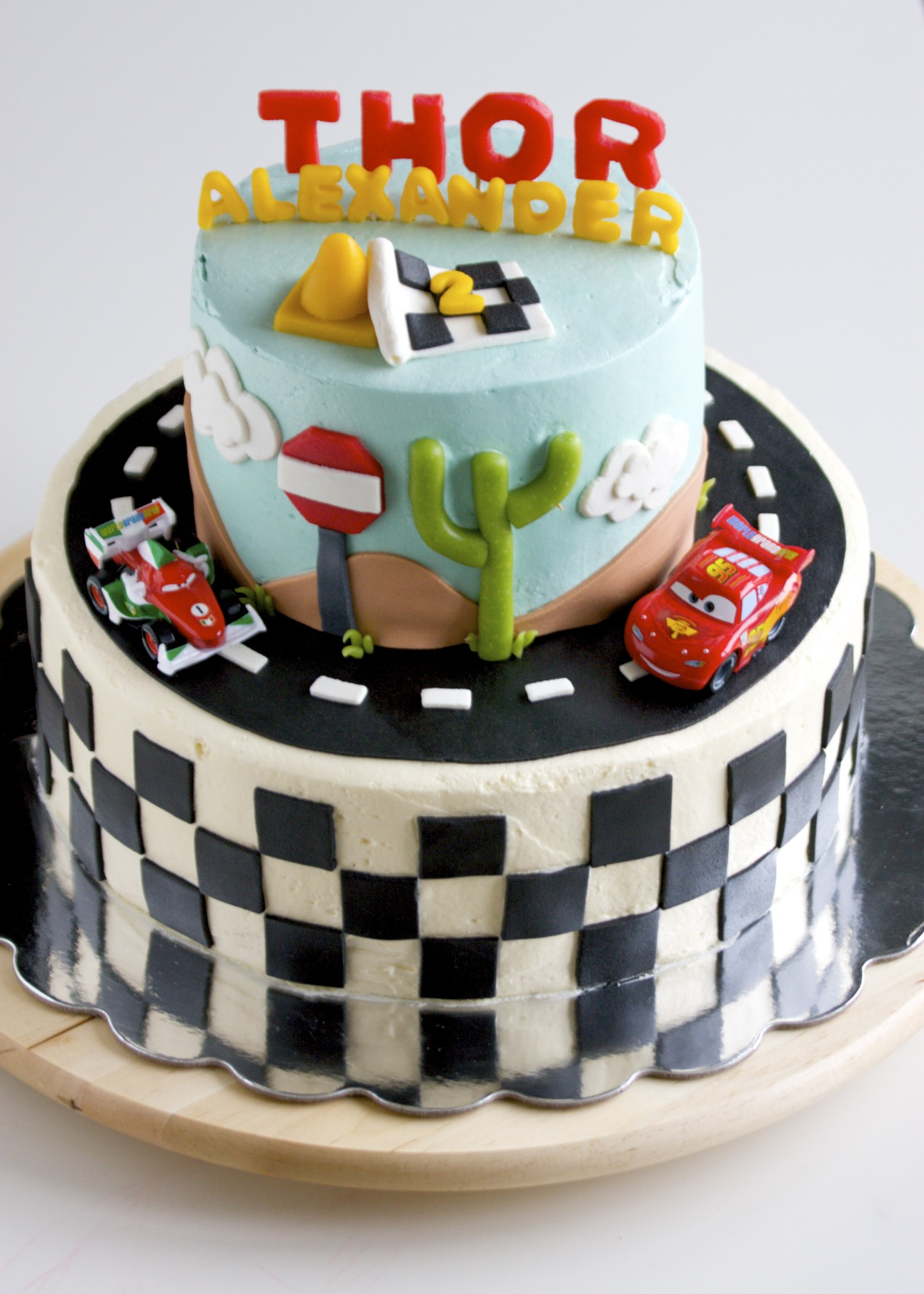 Magnificent How To Make A Cars Themed Birthday Cake Ks Birthday Cards Printable Nowaargucafe Filternl