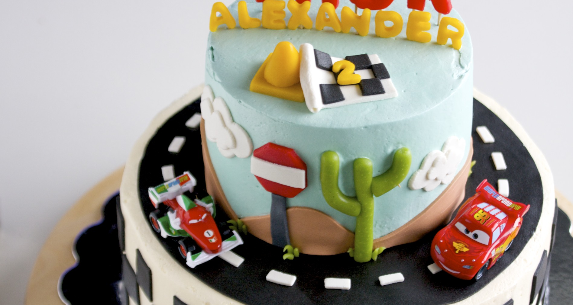 Last Weekend I Made A Birthday Cake For Little Boy That Was Turning Two Who Loves TheCars Disney Movie What Doesnt