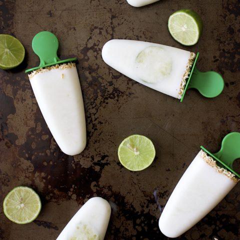 Coconut Key Lime Pie Popsicles