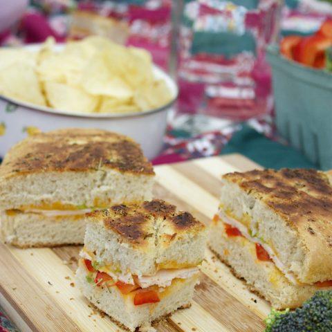 Italian Focaccia Panini (Picnic Food!)