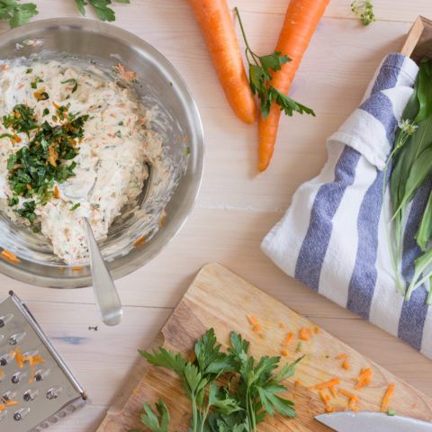 Wild Garlic, Carrot and Parsley Cheese Spread